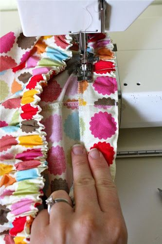 Elastic waist skirt tutorial - with details on how to make the skirt in any size