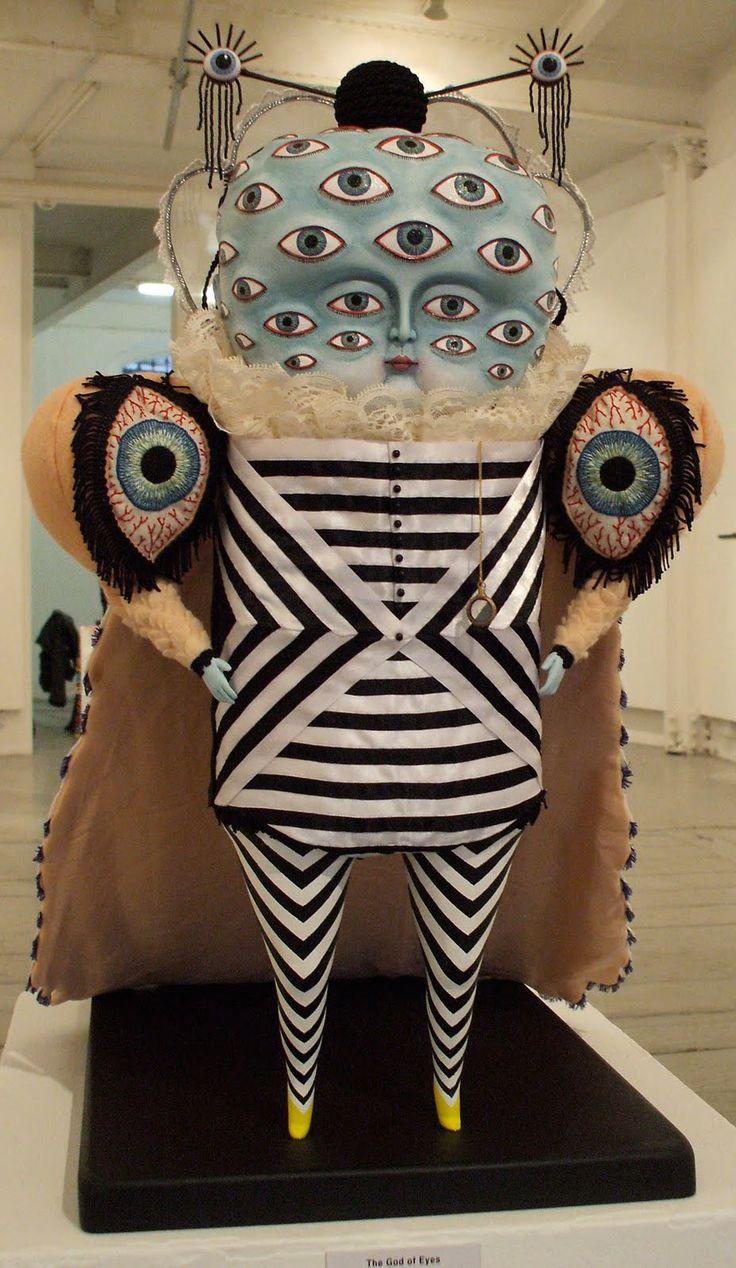 Cat Johnston's mixed media sculptures