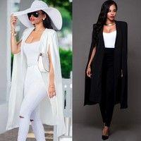 Wish | Fashion Women's Slim Long Coat Jacket Trench Windbreaker Parka Outwear Cardigan