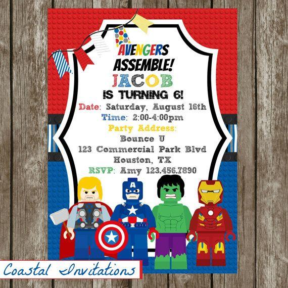 32 best Lego Avengers party images on Pinterest | Avenger party ...
