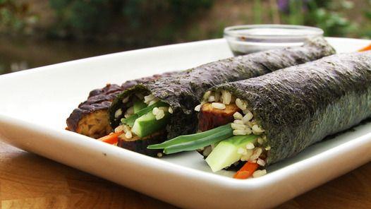 Janella Purcell Brown rice tempeh nori rolls