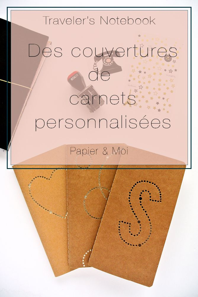 Traveler's Notebook - Couverture personnalisée - Design Cover