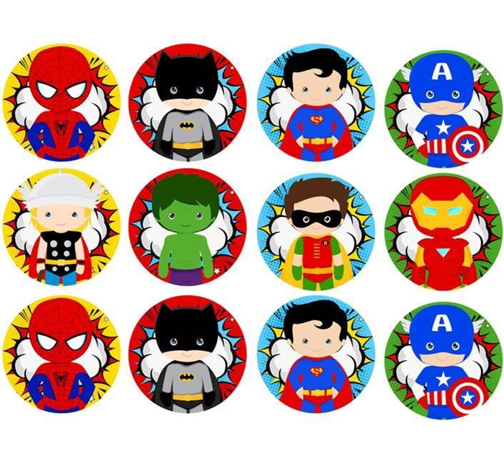 Superhero cupcake  toppers super  boys cupcake  toppers  birthday boys cupcake toppers  handmade superhero  handmade  cupcake  toppers
