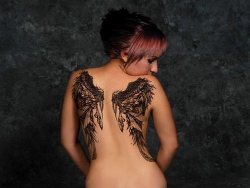 Girl Back Tattoos Idea Angel-Wings-Girl-Back-Tattoos – Women Studio