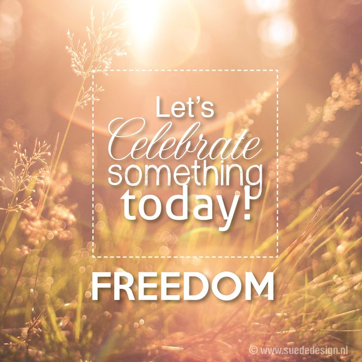 Let's celebrate something today! FREEDOM - #suededesign