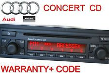 AUDI CONCERT RADIO CD PLAYER A4 8E0 BOSE COMPATIBLE WARRANTY+SECURITY CODE !VGC!