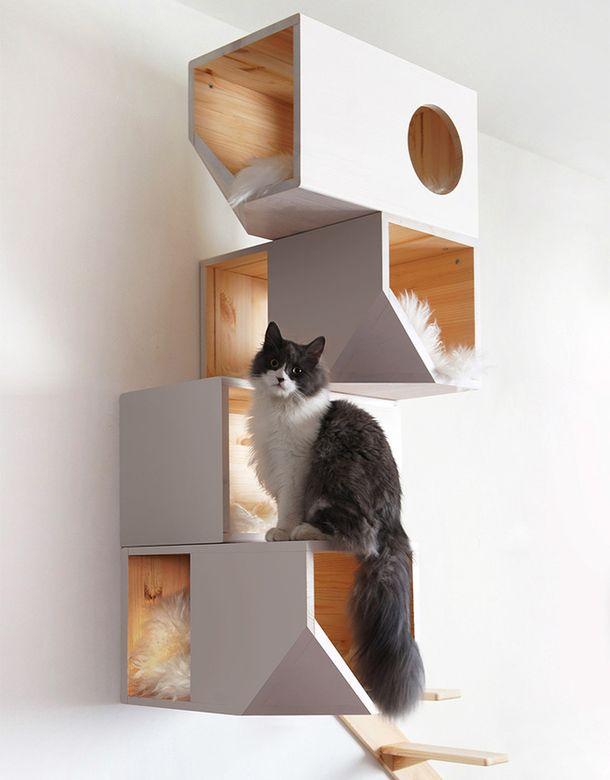 Подвесной кошачий домик