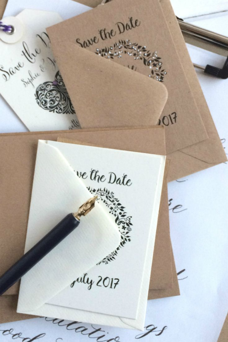 make your own wedding invitations online free%0A Save The Date Stamps to create your own DIY wedding stationery  great  selection of different