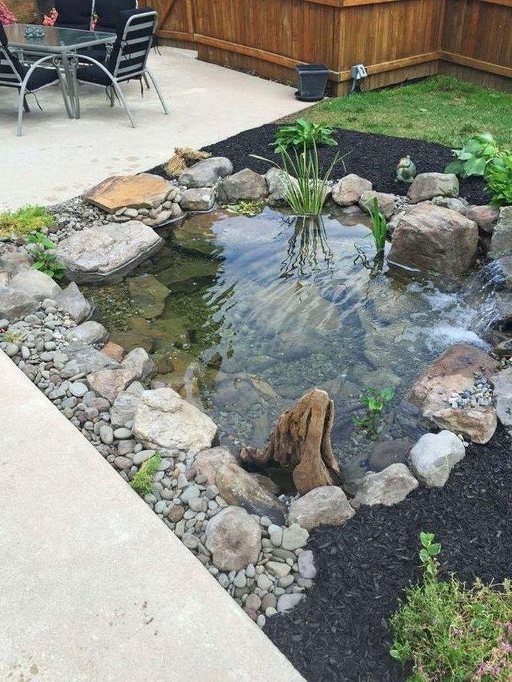 44 Cozy Pond Garden Ideas For Beautiful Backyard #poollandscapingideas #pond #backyardlandscaping