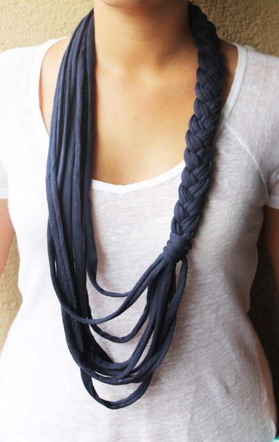 Complementos de trapillo: Collars, Crafts Ideas, Fashion Ideas, Collars Diy, Of Trapillo, Trapillo Collars, Long Collars, Complemento De Crochet, Collars Trenzado
