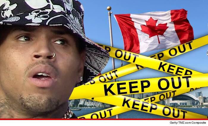 Chris Brown denied entry Feb 2015 into Canada. Finally my country is keeping the trash out!