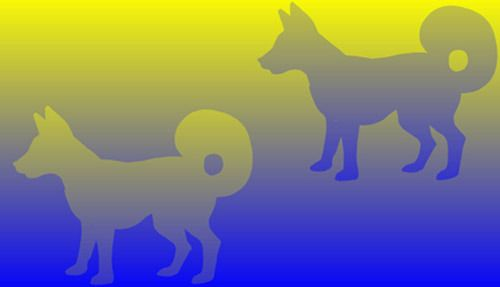 Color Dogs -Yellow Dog vs Blue Dog - both of them have the same color.