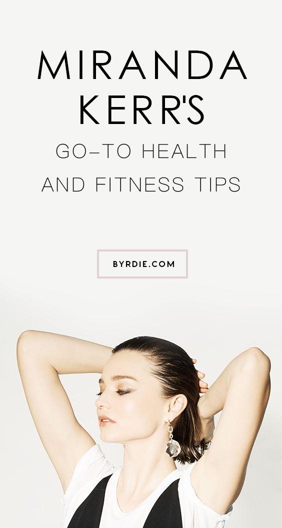 Miranda Kerr's fitness routine:
