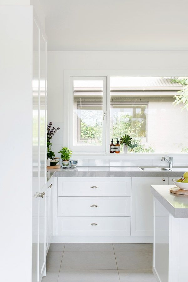 Light filled kitchen. Photo - Brooke Holm, production – Lucy Feagins / The Design Files.