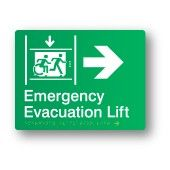 Emergency Evacuation Lift - Right, Braille Sign Supplies Accessible Exit Sign http://braillesignsupplies.com.au/stock-sign-categories/brailleform/egress.html Part of the Accessible Exit Sign Project #accessibleexitsigns