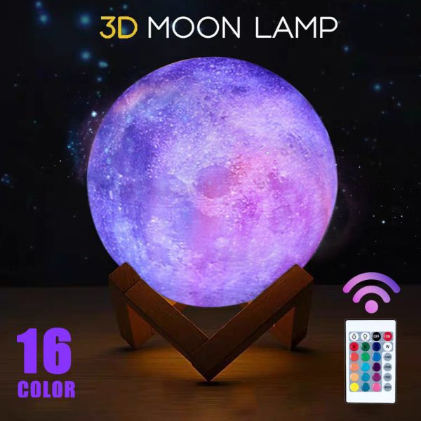 Us 5 87 15 Off 3d Print Star Moon Lamp Colorful Change Star Moon Touch Sensor Creative Home Decor Unique In 2020 Led Night Light Creative Home Decor Creative Home