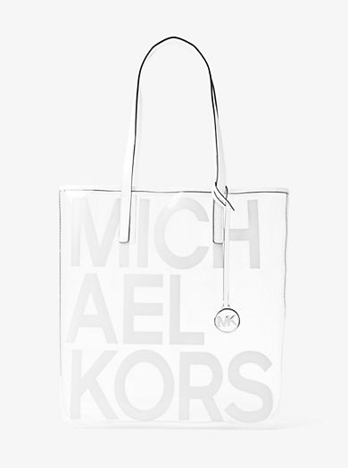 2275f5dbc6 The Michael Large Graphic Logo Print Clear Tote   Spring 2019 in ...