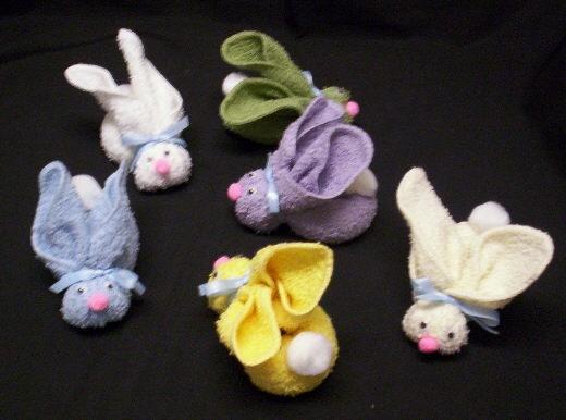 кролик из полотенца