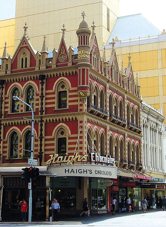 Haigh's Chocolates • South Australian icon • Adelaide city • corner of Rundle Mall and King William Street • Adelaide's icons
