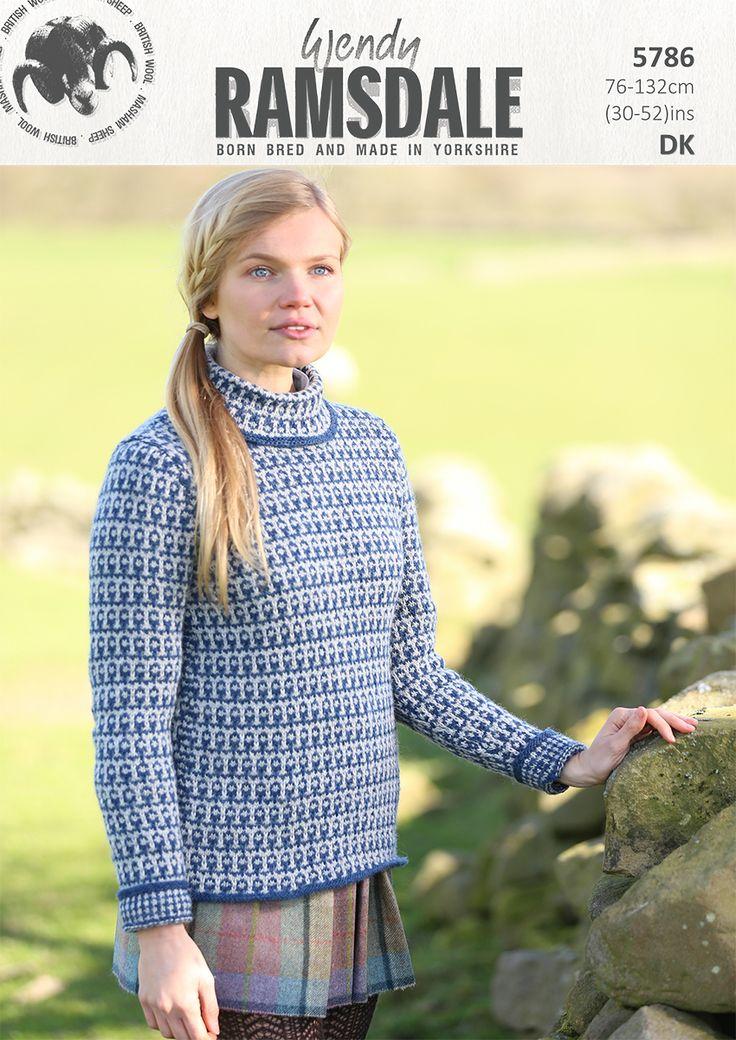 5786 - Fabulous design in Wendy Ramsdale dk http://www.tbramsden.co.uk/catalog/patterns/womens/5786