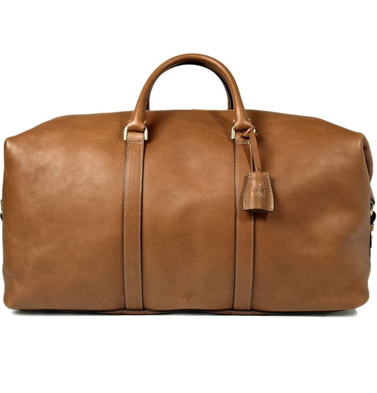 Mulberry Men's Clipper Leather Holdall.  I love men's leather luggage. The more beat up the better.