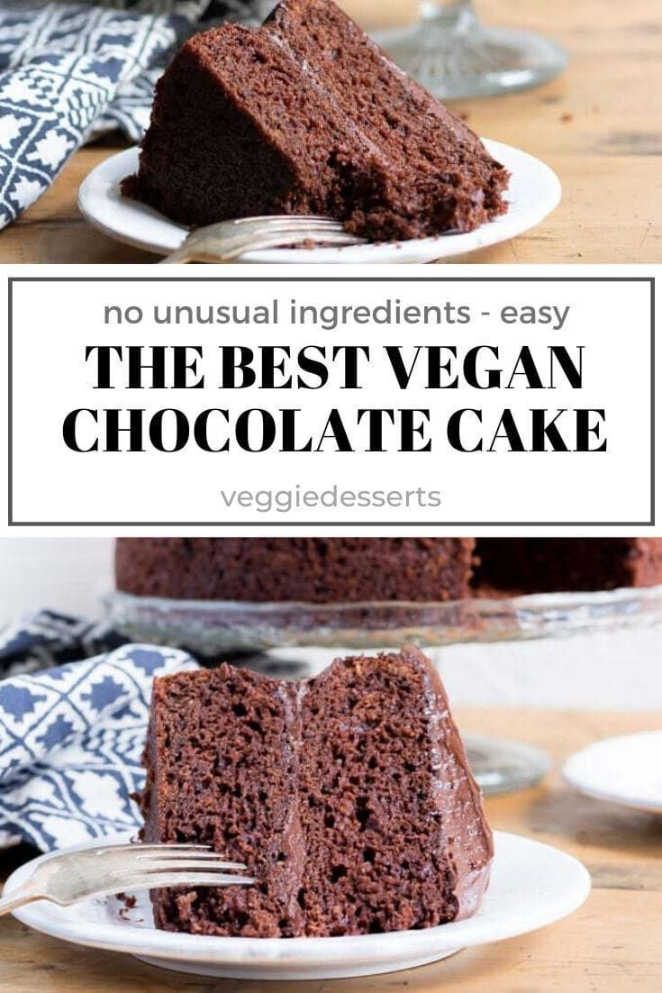 The Best Vegan Chocolate Cake Recipe In 2020 Vegan Chocolate Cake Best Vegan Chocolate Vegan Chocolate