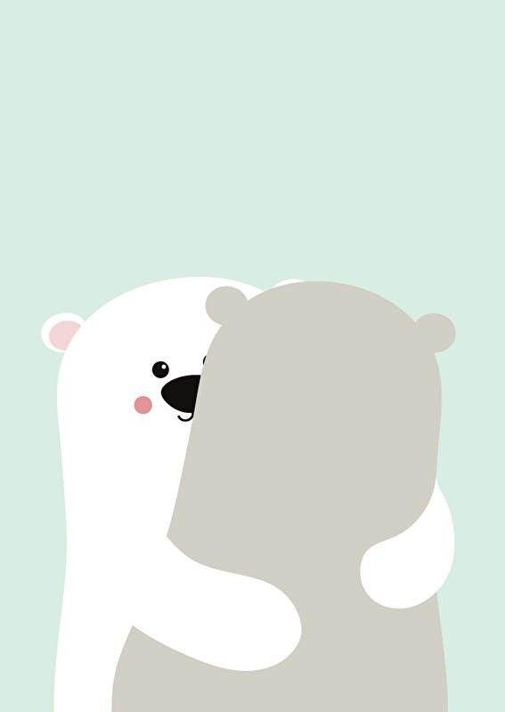 Poster Big bear hug A3