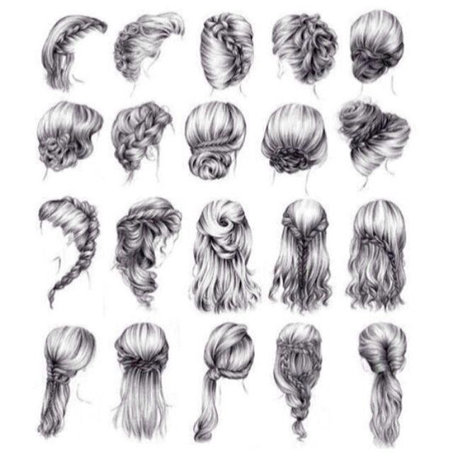 Braids. Loops. Twists. Loose. Updo. Down do. Bun. Half up. Wedding hair. http://www.planningwedding.net/