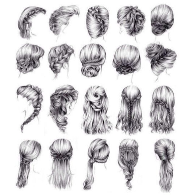 Braids. Loops. Twists. Loose. Updo. Down do. Bun. Half up. Wedding hair.