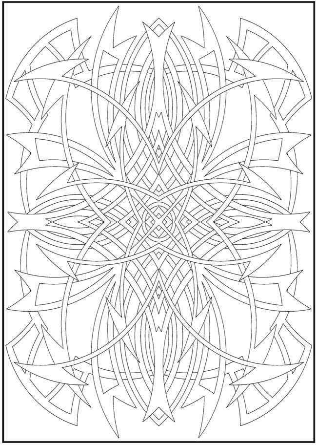 Creative Haven Abstract Designs Coloring Book Spiky Design Dover
