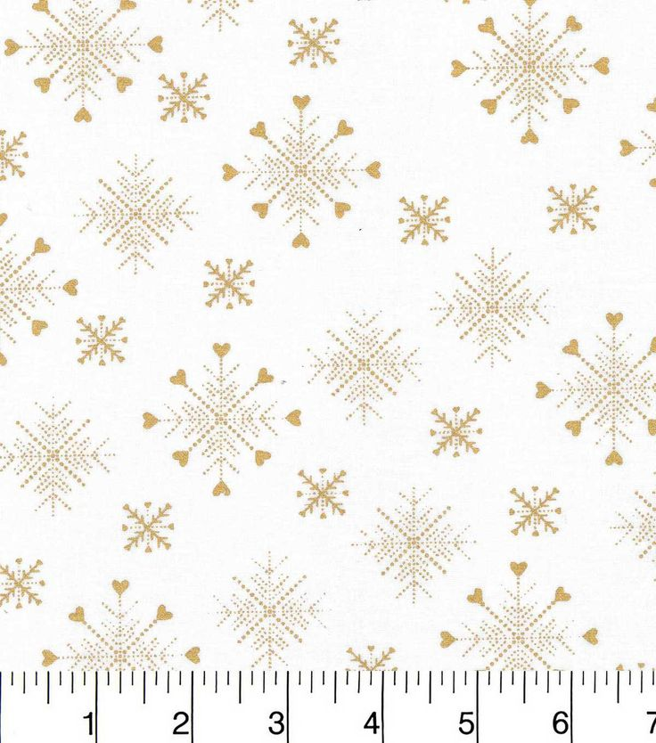 Keepsake Calico Christmas Cotton Fabric-Gold Snowflakes With Hearts