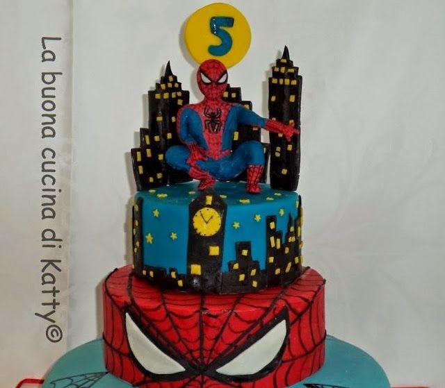 La buona cucina di Katty: Torta Uomo Ragno - Spiderman cake