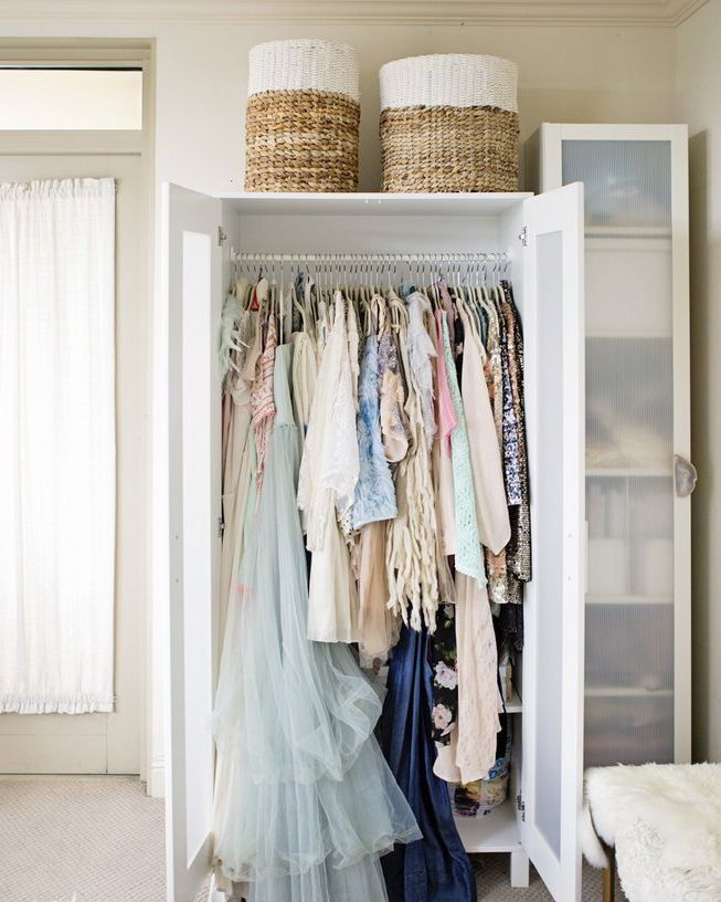 14 Ingenious Storage Tricks For A Small Bedroom With No Closets Small Bedroom Storage No Closet Solutions Bedroom Storage For Small Rooms