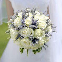 Lavendar, mint, and rose bouquets