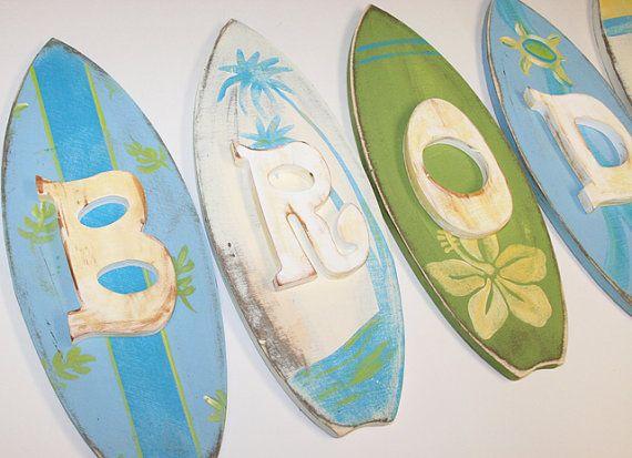 Rustic Surf Shop Hand Painted Nursery Wall by BouncingOffTheWalls