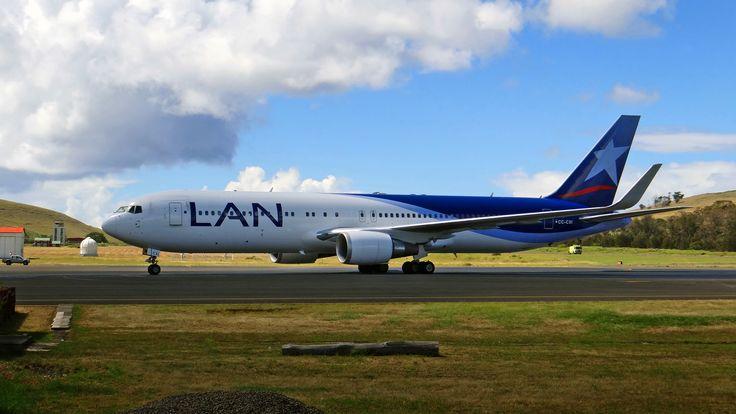 LAN Airlines - B767-300 - Aeropuerto Mataveri - Easter Island - Rapa Nui - Isla de Pascua - Chile
