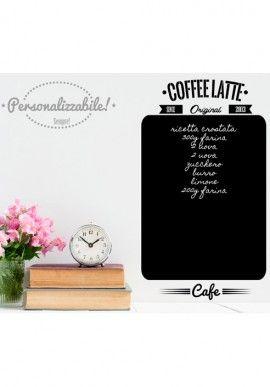 Wall sticker - Coffee blackboard BUY IT NOW ON www.dezzy.it!