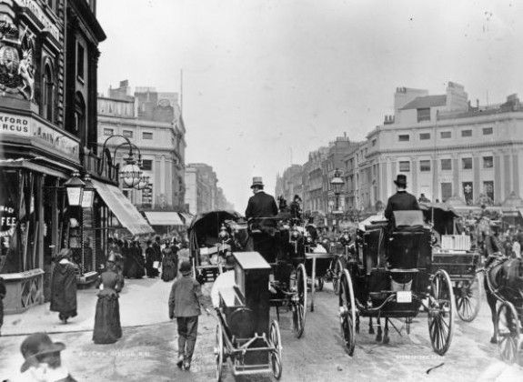 Oxford Street, East End , London circa 1888