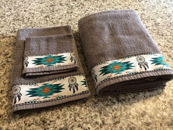 Western Towels Western Bathroom Western Housewarming Bath