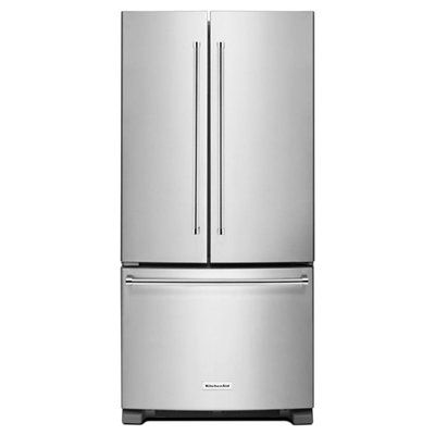 KitchenAid 22.1-cu ft 3-Door French Door Refrigerator Single Ice Maker (Stainless Steel) ENERGY STAR