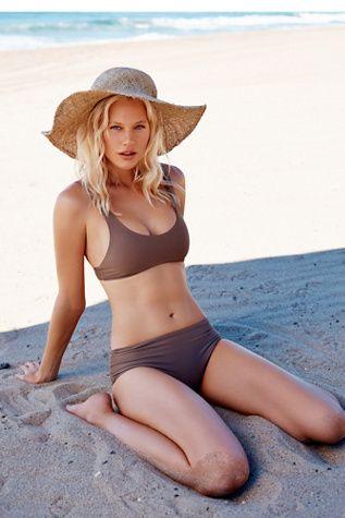 Duke Bikini Bottom   Free People Essential bikini bottom featuring a higher waisted fit.