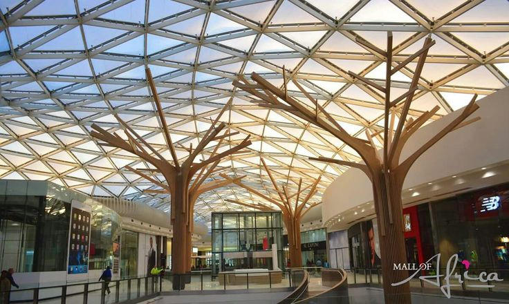 SA Midrand - Inside the Mall of Africa - trees and triangles