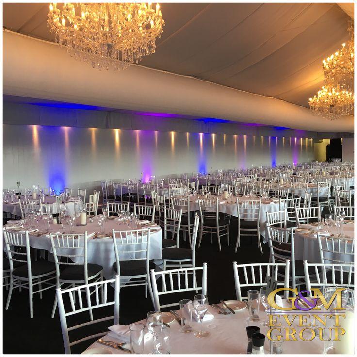 Corporate Lighting @ Brisbane Victoria Park Golf Club || #purple #blue #uplighting #lightinghire