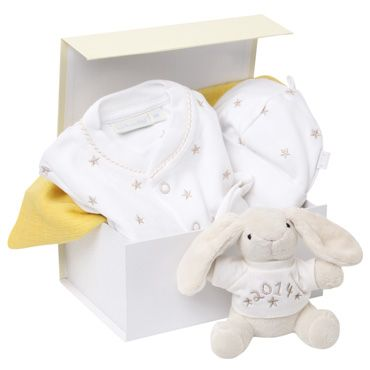 Baby & Maternity Gift Sets, Vouchers and Gift Boxes | JoJo Maman Bébé  A great starter kit for a new baby! How cute is the Jo Jo bunny?  www.busylizzy.co.uk