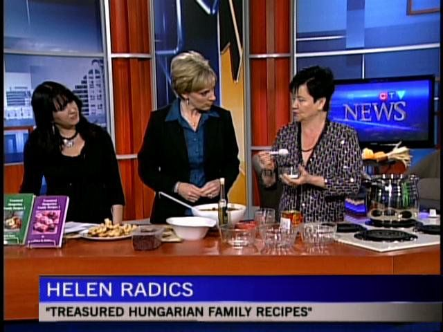 CTV Cooking segment with Helen M. Radics (me) and anchor Nancy Richards - You may also visit my website http://besthungarianrecipes.sharepoint.com