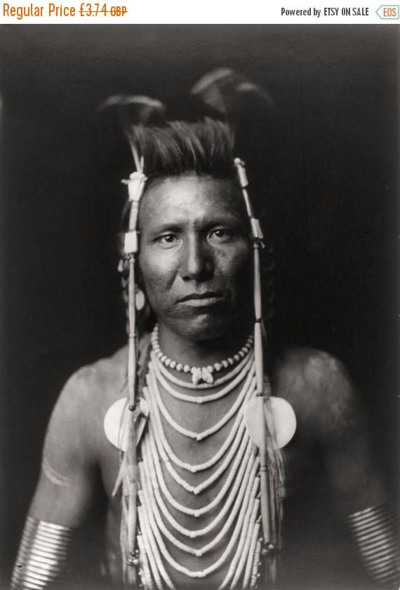 On Sale Native American Edward Curtis Ben Long Ear Print