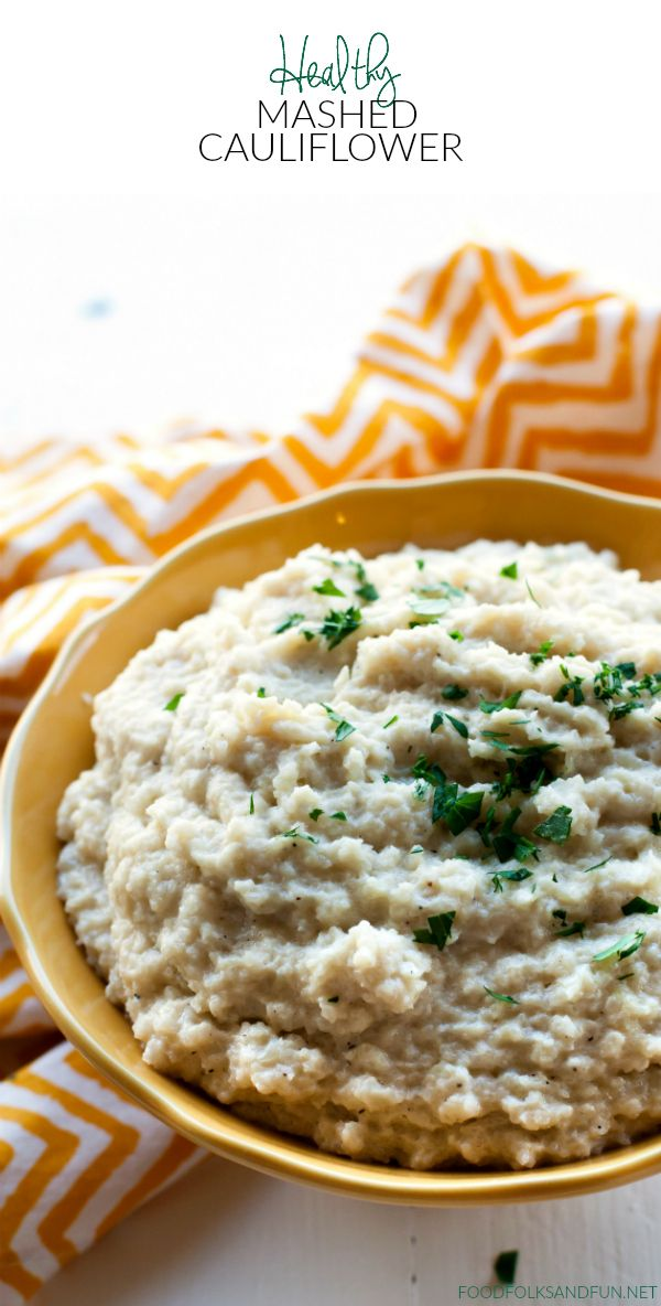 This Healthy Mashed Cauliflower recipe is delicious, flavorful and low-carb! You…