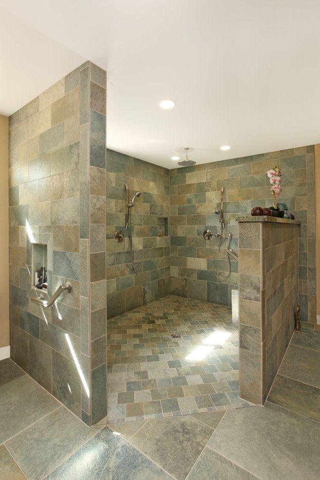 Tropical Bathroom Walk In Shower Tropicalbathroomspaces Bathroom Remodel Shower Tropical Bathroom Bathroom Remodel Master