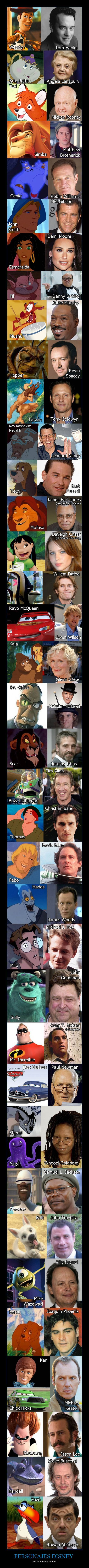 Half of these I knew, and half of them I had no clue! Lol #Disney #voices #voiceactors