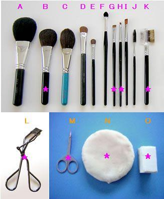メイク道具の準備■メイクの基本:メイクブラシの使い方・お手入れ方法 ...